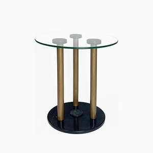 Side Table in Marble and Lacquered Steel