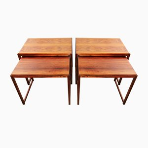 Danish Rosewood Nesting Tables, 1970s, Set of 2