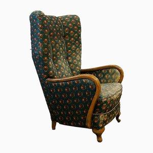 Chaise Lounge Mid-Century grande con respaldo alto, Francia