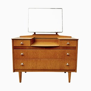 Mid-Century Dressing Table with Mirror and Drawers from Lebus