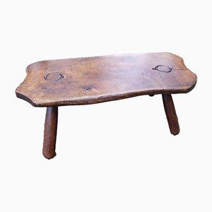 Tavolino da caffè brutalista in legno, anni '50