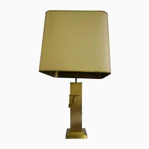 Große vergoldete Tischlampe von Deknudt, 1970er
