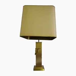 Large Gilded Table Lamp from Deknudt, Belgium, 1970s