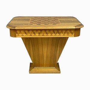 Spieltisch aus Holz, Italien, 1920er