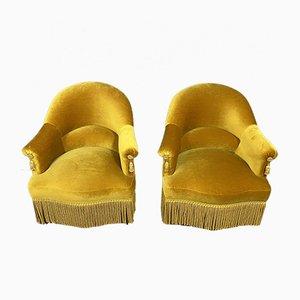 Velvet Tub Chairs, Set of 2