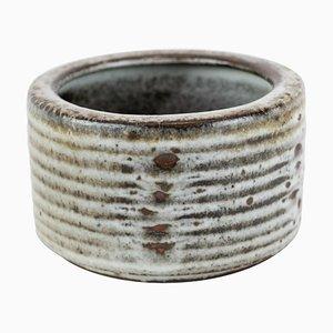 Kleines Keramik Gefäß in dunklen Farben von Saxbo
