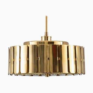 Lampe à Suspension Mid-Century en Laiton de Konsthantverk Tyringe, Suède, 1960s
