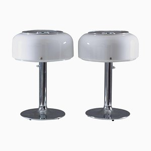 Knubbling Table Lamps in Chrome and Acrylic from Ateljé Lyktan, Set of 2