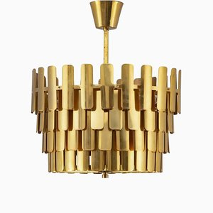 Mid-Century Swedish Pendant in Brass from Konsthantverk Tyringe, 1960s