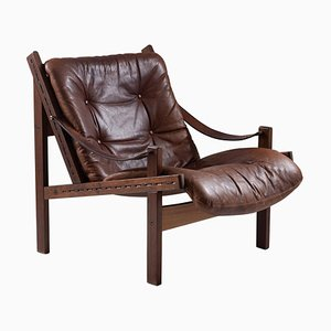 Mid-Century Scandinavian Hunter Lounge Chair by Torbjørn Afdal