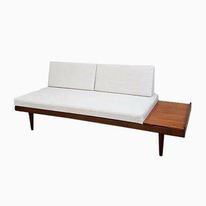 Mid-Century Danish Teak Studio Sofa Bed with Built in End Tables