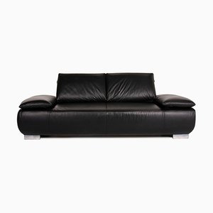 Black Leather Volare 3-Seat Sofa from Koinor