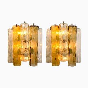 Große Wandlampen aus Murano Glas von Barovier & Toso, 2er Set