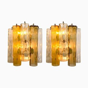 Large Wall Sconces in Murano Glass from Barovier & Toso, Set of 2