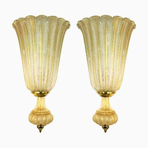 Large Wall Lights from Barovier & Toso, Set of 2