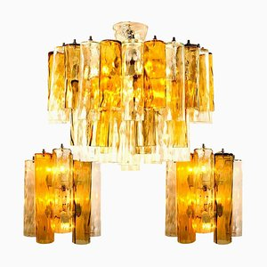 Large Wall Lights & Chandelier from from Barovier & Toso, Set of 3
