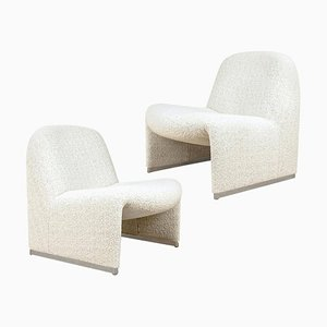 Alky Chairs from Castelli With Dedar New Upholstery Boucle, Set of 2