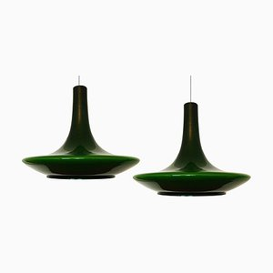 Murano Glass Pendant Lights, 1960s, Set of 2