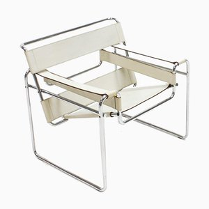 Ivory-Colored Wassily Chair by Marcel Breuer for Gavina, Italy, 1960s