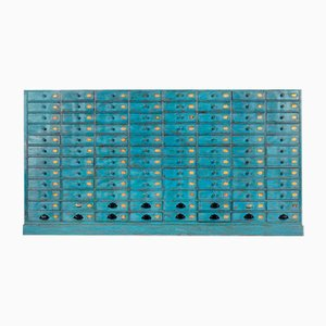 Blue Wooden Pastourel Craft Furniture with 96 Drawers
