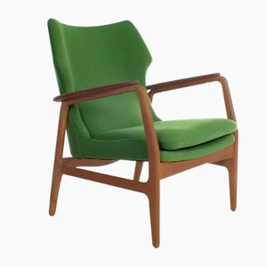 Green Armchair by Aksel Bender Madsen for Bovenkamp