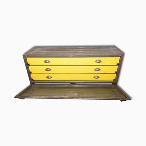 Vintage Army Metal Chest of Drawer Box, 1950s