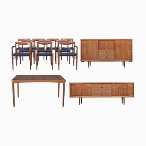 Mid-Century Danish Teak Dining Room Set from Bramin