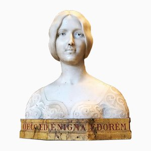 Antique French Marble Cleo De Merode Bust, 1898
