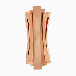 Wall Light In Brass With Copper-Plated Finish