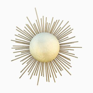 Sconce In Hammered Brass