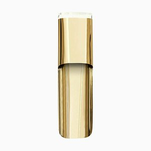 Sconce In Gold-Plated Brass With Acrylic Shade