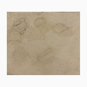 Sketch, 19th-Century, Pencil on Paper