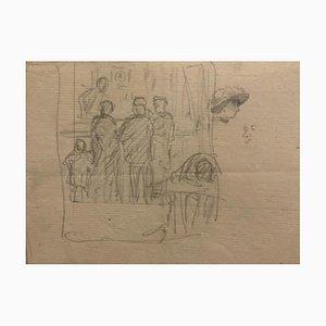 Studien zu Figuren, 19. Jahrhundert, Bleistift auf Papier