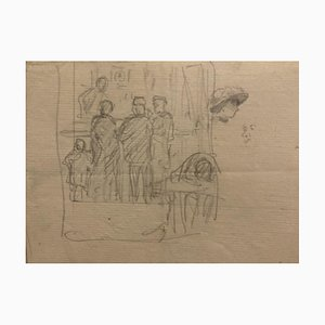 Studies of Figures, 19th-Century, Pencil on Paper
