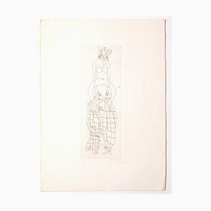 Mino Maccari, Figures, 1960s, Etching on Paper