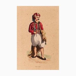 Algerischer Mann, 19. Jahrhundert, Lithographie