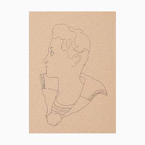 Jean Cocteau, Junge, 1930er Jahre, Photo Lithographie
