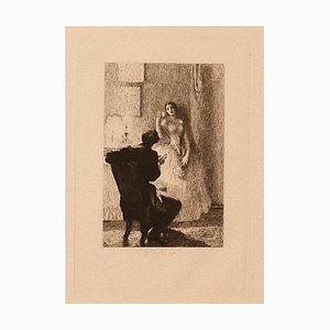 Ricardo De Los Rios, Gallantry, 1880s, Etching