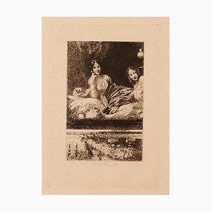 Ricardo De Los Rios, Im Theater, 1880er, Radierung