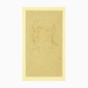 Laurent Bonet - Young Boy - Original Drawing on Paper by Laurent Bonet - 1880s