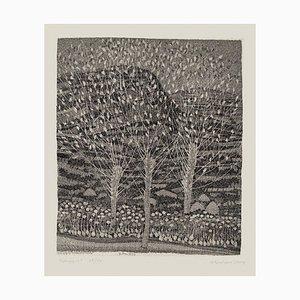 Nunzio Gulino - Landscape - Original Radierung von Nunzio Gulino - 1970
