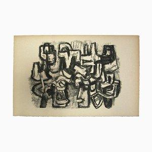 Unknown - Composition - Original Lithografie auf Papier - Mitte des 20. Jahrhunderts