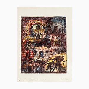Eugene Berma, Escape from Troy, Lithograph, 1967