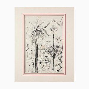 Gemma D'amico - Landscape - Original Ink on Paper - 1941