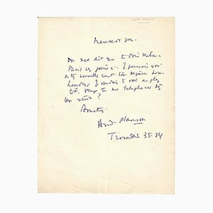 Anita Loos - Autograph by Planson - Signed Autograph Letter - 1950/6