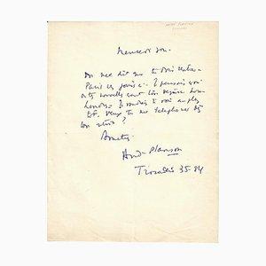 Anita Loos - Autograph von Planson - Signierter Autograph Buchstabe - 1950/6
