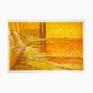 Mario Doors - Landscape - Original Lithograph - 1980s