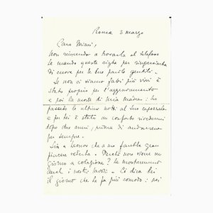 Stanislao Lepri - Autograph Letter - 1950s