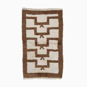 Brauner Vintage Tulu Teppich