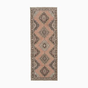 Vintage Turkish Beige Runner Rug